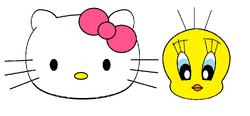 Sanrio Characters Tweety Hello Kitty Image006.png