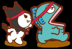 Sanrio Characters Kuromi--Hangyodon Image001.png