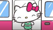 Hello Kitty green polka dot swimsuit