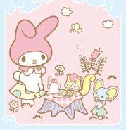 Sanrio Characters My Melody--Risu--Flat--Chocho Image001