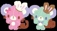 Sanrio Characters Cocoa--Vanilla (Sugarbunnies) Image002