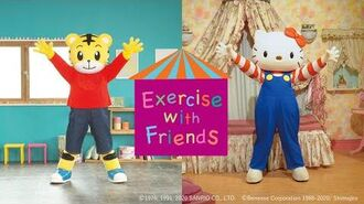 """Shimajiro_&_Hello_Kitty_in_""""Exercise_with_Friends""""_(Official_Video)"""