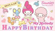 Happy Birthday to My Melody!🎆🎇🎉🎊