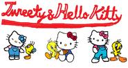 Sanrio Characters Tweety Hello Kitty Image014