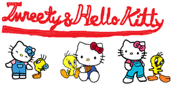 Sanrio Characters Tweety Hello Kitty Image014.png
