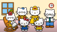 Hello Kitty and her family