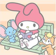 Sanrio Characters My Melody--Risu--Flat Image004