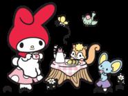 Sanrio Characters My Melody--Risu--Flat Image005