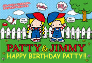 Sanrio Characters Patty & Jimmy--Fuzzy Image005