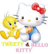 Sanrio Characters Tweety Hello Kitty Image021