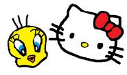 Sanrio Characters Tweety Hello Kitty Image012