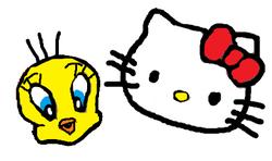 Sanrio Characters Tweety Hello Kitty Image012.png
