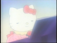 Hello Kitty playing the piano
