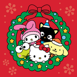Sanrio Characters Keroppi--My Melody--Chococat--Pompompurin--Hello Kitty--Christmas Image001.png