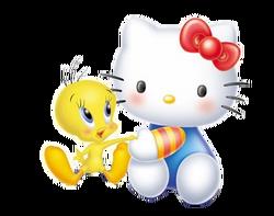 Sanrio Characters Tweety Hello Kitty Image004.png