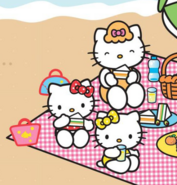 Kitty Mimmy and Mary at the beach
