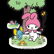Sanrio Characters My Melody--Flat--Mogura Image001