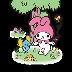 Sanrio Characters My Melody--Flat--Mogura Image001.png