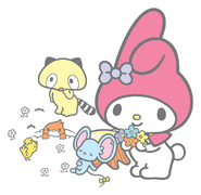 Sanrio Characters My Melody--Flat--Mogura--Araiguma--Tori Image001