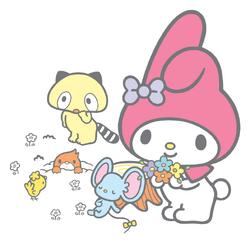 Sanrio Characters My Melody--Flat--Mogura--Araiguma--Tori Image001.png