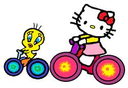 Sanrio Characters Tweety Hello Kitty Image013.png