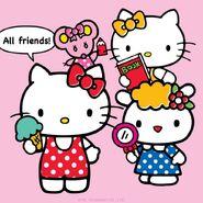 Sanrio Characters Judy--Mimmy--Hello Kitty--Fifi Image001