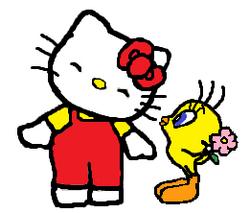 Sanrio Characters Tweety Hello Kitty Image018.png