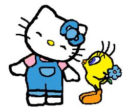 Sanrio Characters Tweety Hello Kitty Image017.png