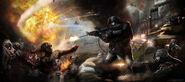 Army vs zombies!!!