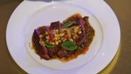 Megan's Final Tasting Dish (Red Meat Entrée)