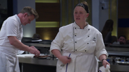 Megan in Head Chef Jacket