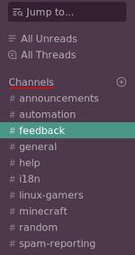 Przycisk Channels