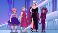 Adora protests Scorpia and Catra's entrance to the prom