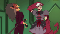 Scorpia flails at the gothic lolita schtik