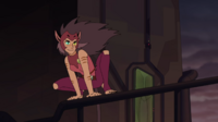 3. Catra smugly views the growing storm