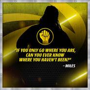 Miles Quote