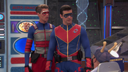 Captain Man and Kid Danger questioning