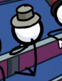 Unknown Short Gray top hat (TT)