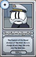 Captain Lazlo Bio