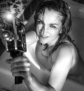 Renee O'Connor Nude in Bathtub