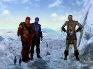 Helios, Oceanus, Atlas, Ares, Hercules and Iolaus