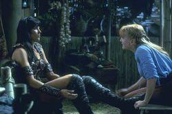 Xena and Gabrielle meet