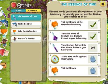 Quest Log Screen