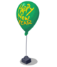 Green New Year Balloon