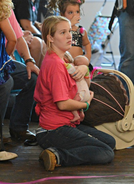 Anna with baby Kaitlyn