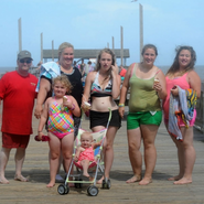 The Shannon clan on the beach