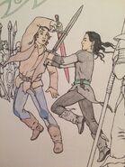 Eragon et Arya se battent en duel à Farthen Dûr