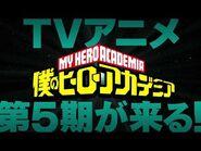 ヒロアカ5期制作決定!/『僕のヒーローアカデミア』TVアニメ5期発表映像/MY HERO ACADEMIA 5th season up coming.