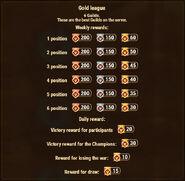 Guild War Rewards Gold
