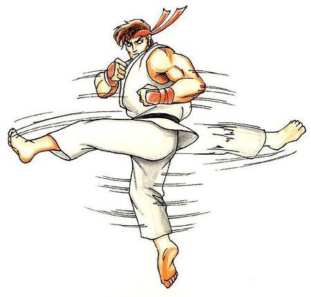 Street Fighter II Ryu-hurricane